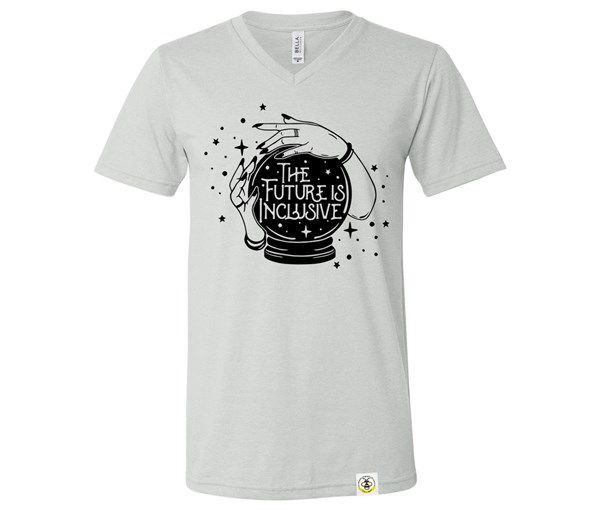 The Future is Inclusive Unisex V-Neck (Silver)