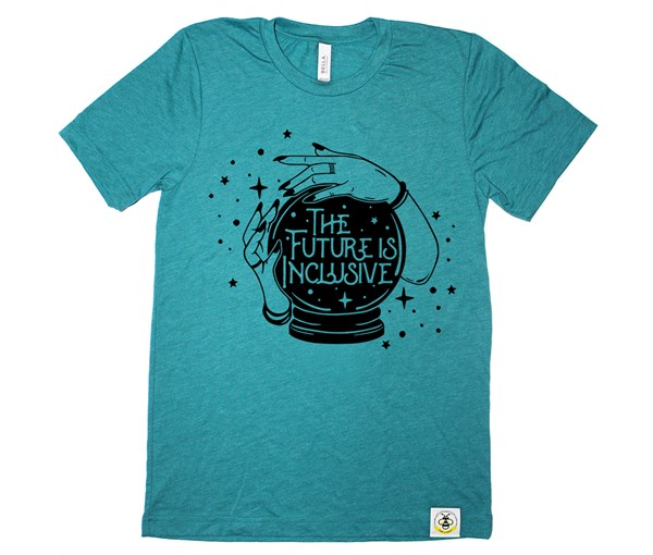 The Future is Inclusive Adult Crew (Teal)