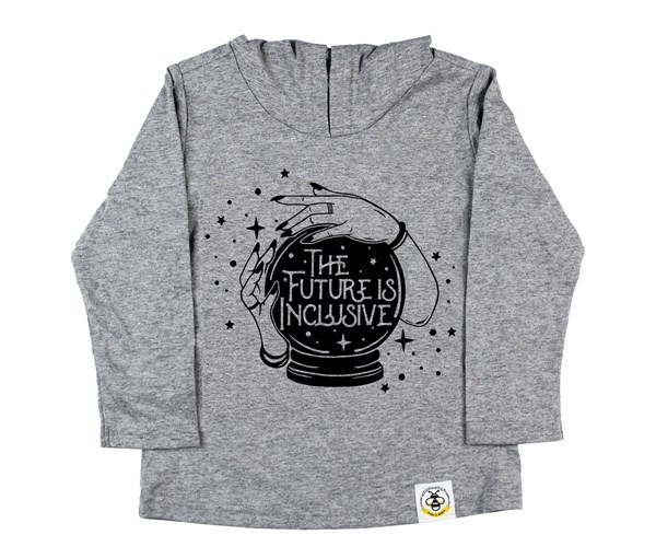 The Future is Inclusive  Hooded Tee (Grey)