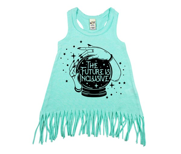 The Future is Inclusive Fringe Dress (Mint)