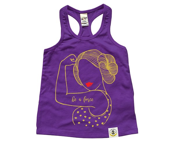 Be A Force Racerback Tank (Purple--Limited Edition Gold)