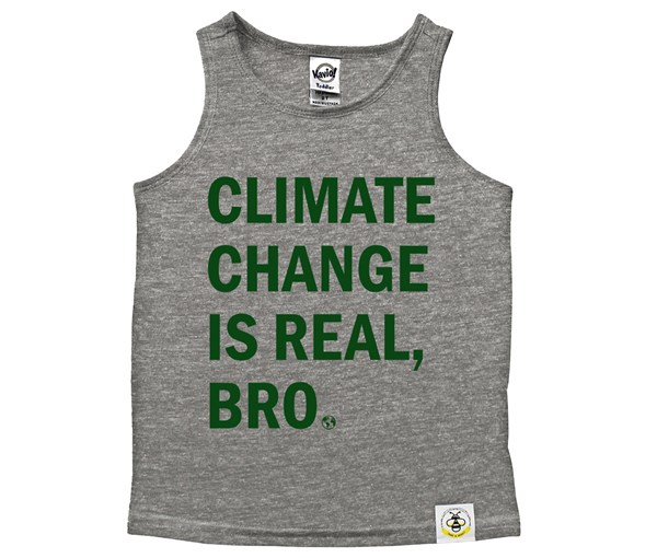Climate Change Scoop Neck Tank (Grey/Green)