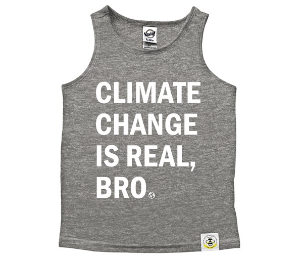 Climate Change Scoop Neck Tank (Grey/White)
