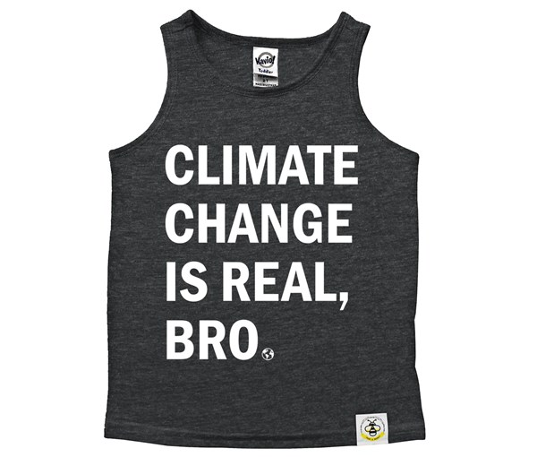 Climate Change Scoop Neck Tank (Charcoal)