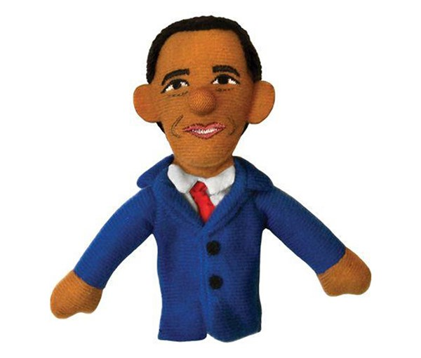 Magnetic Personalty Puppet: Barack Obama (Finger Puppet + Magnet)