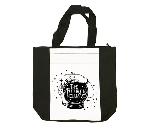 The Future is Inclusive Tote Bag (Black/White)