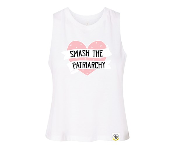 Smash the Patriarchy Adult Racerback Cropped Tank