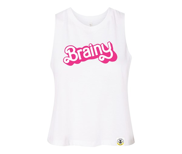 Brainy Adult Racerback Cropped Tank