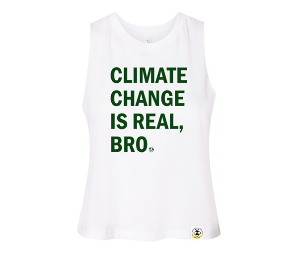 Climate Change Adult Racerback Cropped Tank