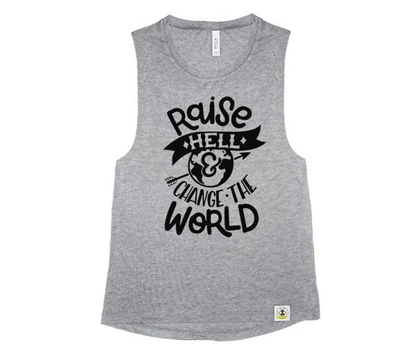 Raise Hell Adult Muscle Tank (Grey)