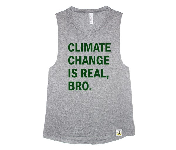 Climate Change Adult Muscle Tank (Grey)