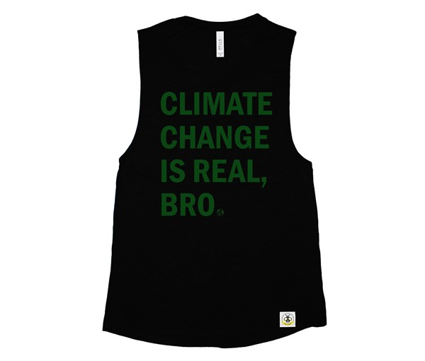 Climate Change Adult Muscle Tank (Black)