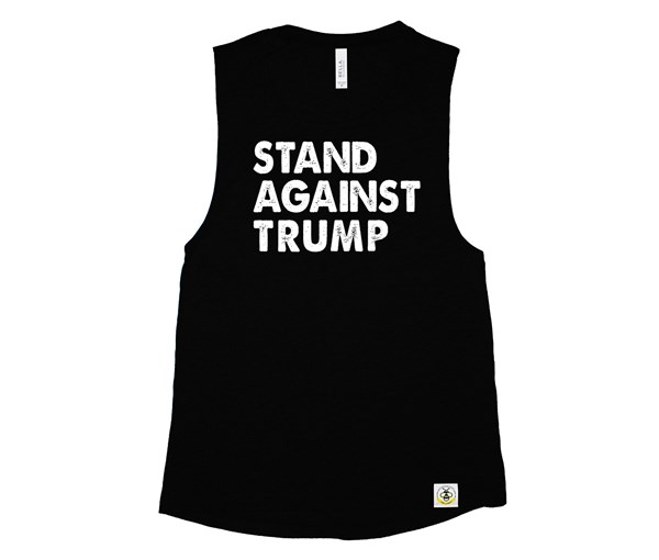Stand Against Trump Adult Muscle Tank (Black)