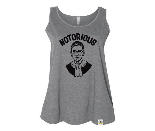 Notorious Women's Plus Size Tank (Grey)