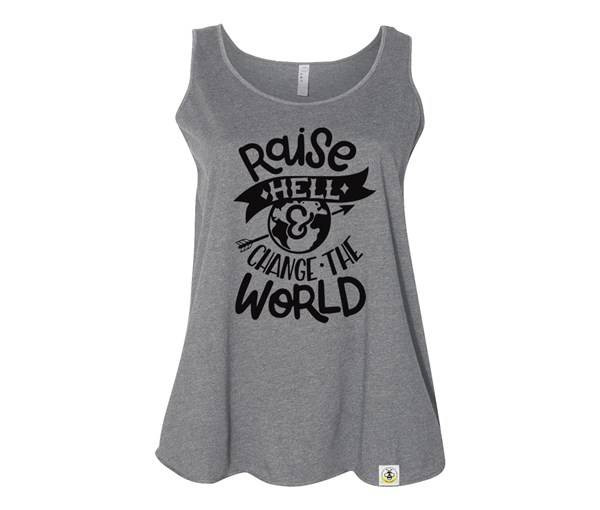 Raise Hell Plus Size Tank (Grey)
