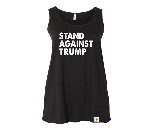 Stand Against Trump Plus Size Tank (Black)