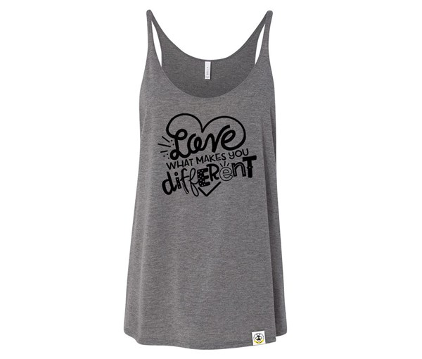 Different Adult Slouchy Tank (Grey)