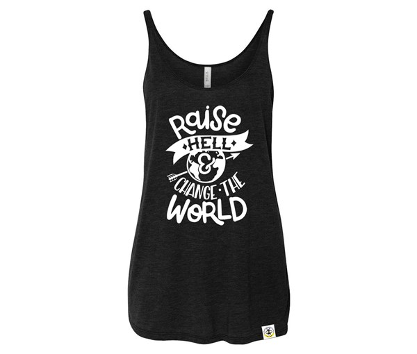 Raise Hell Adult Slouchy Tank (Black)