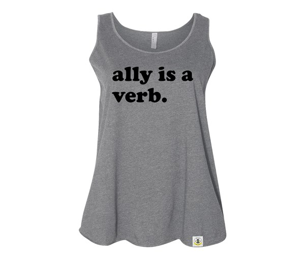 Ally is a Verb (Plus Size Tanks)