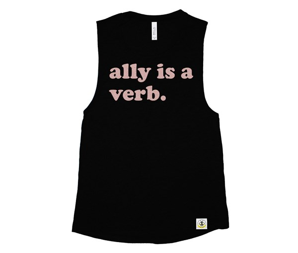 Ally is a Verb (Adult Muscle Tanks)