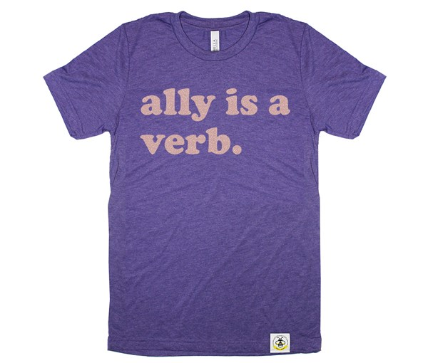 Ally is a Verb Adult (Purple)