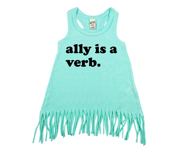 Ally is a Verb Fringe Dress (Mint/Black)