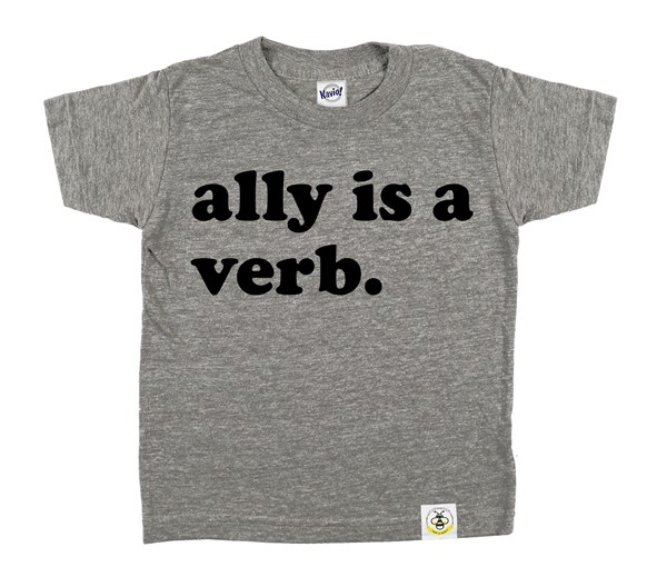 Ally is a Verb (Grey/Black)