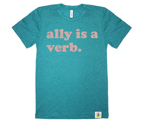 Ally is a Verb Adult (Teal)