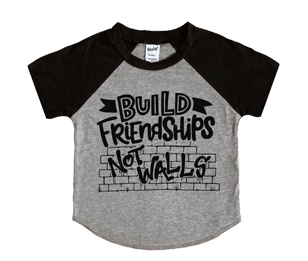 Build Friendships (Kids Short Sleeve Raglan)