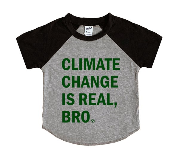 Climate Change (Kids Short Sleeve Raglan)