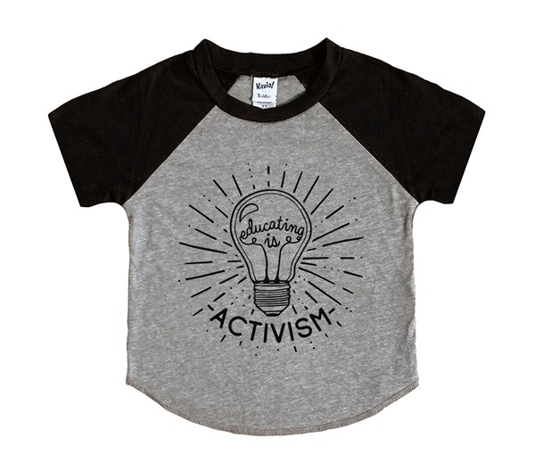 Educating is Activism (Kids Short Sleeve Raglan)