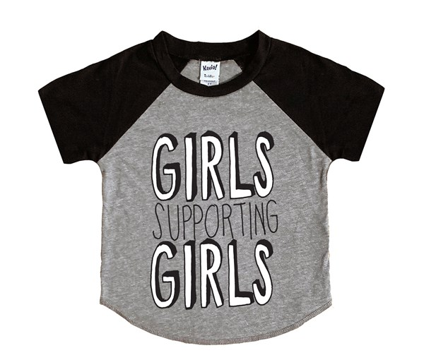 Girls Supporting Girls (Kids Short Sleeve Raglan)