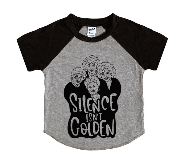 Silence Isn't Golden (Kids Short Sleeve Raglan)