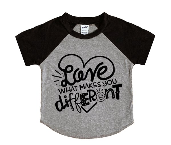 Different (Kids Short Sleeve Raglan)