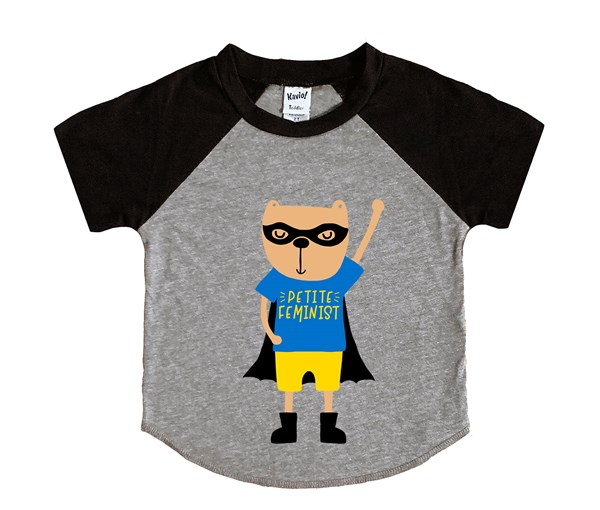 Petite Hero (Kids Short Sleeve Raglan)