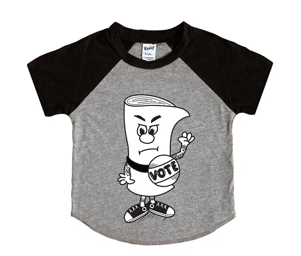 Schoolhouse Vote (Kids Short Sleeve Raglan)