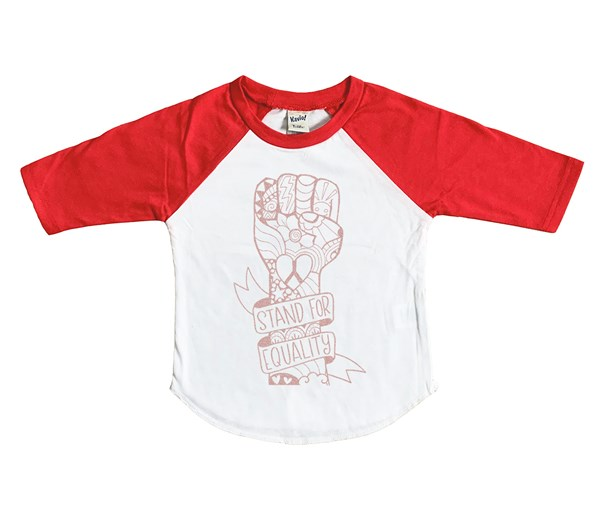 Equality Fist Raglan (Rose Gold)