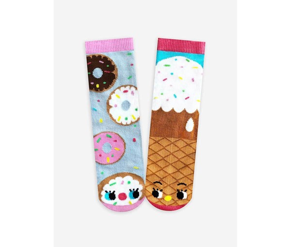 Pals Socks: Donuts and Ice Cream Pals Mismatched Socks