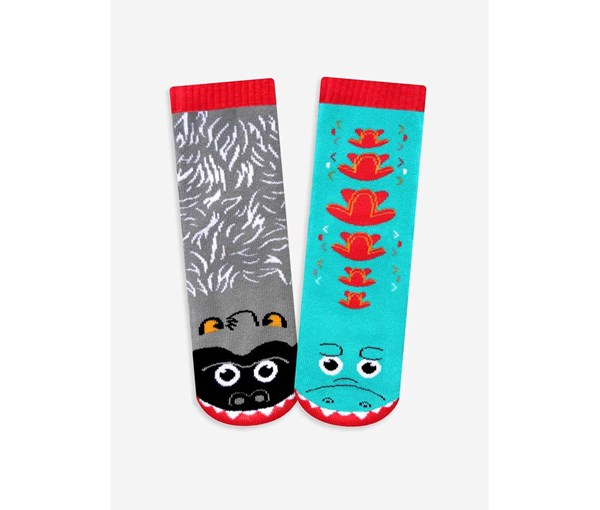 Pals Socks: Giant Gorilla and Mutant Lizard Pals Mismatched Socks