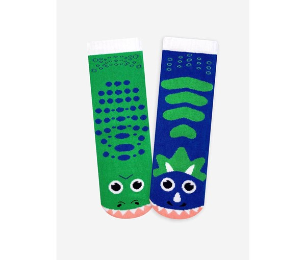 Pals Socks: T-Rex and Triceratops Pals Mismatched Socks (Ages 1-3)
