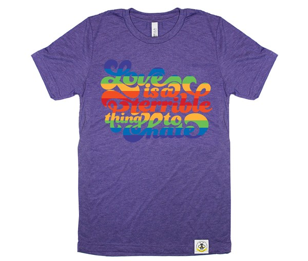 Love is a Terrible Thing to Hate Adult Crew (Purple)