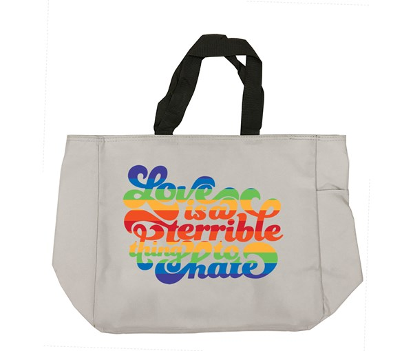 Love is a Terrible Thing to Hate Tote Bag (Grey)