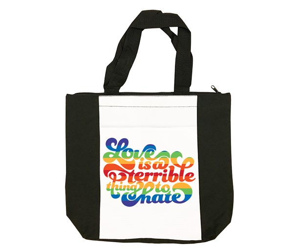 Love is a Terrible Thing to Hate Tote Bag (Black/White)