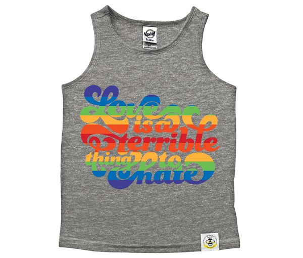 Love is a Terrible Thing to Hate (Kids Scoop Neck Tank)
