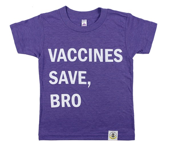 Vaccines Save, Bro (Purple)