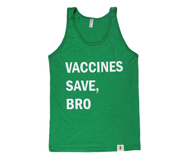 Adult Vaccines Save, Bro Tank (Kelly Green)