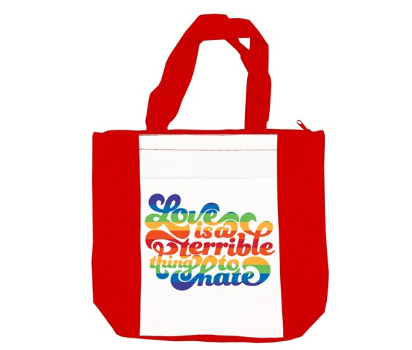 Love is a Terrible Thing to Hate Tote Bag (Red/White)