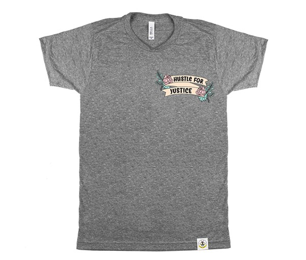 Hustle for Justice Adult Crew (Grey)
