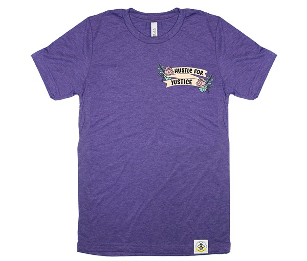 Hustle for Justice Adult Crew (Purple)