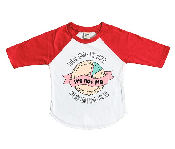 It's Not Pie Kids Raglan